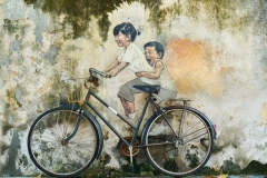 bicycle riding-children painting